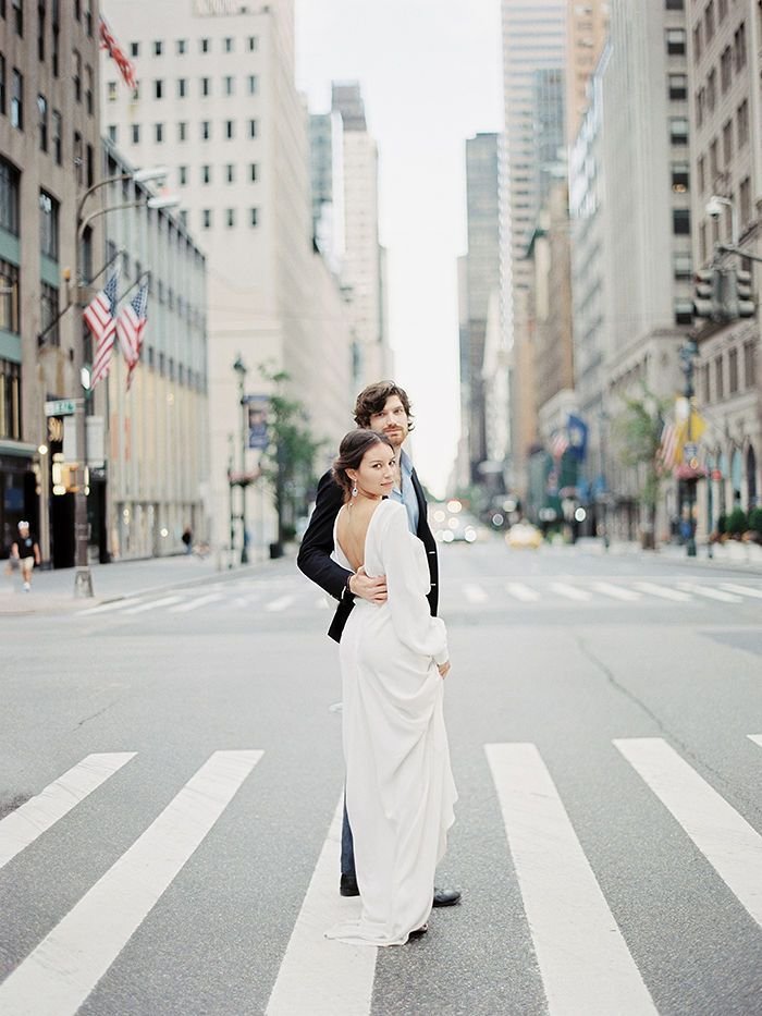 Two Hearts and Two Cultures Collide in a Bright, Fine Art Style Celebration of Love in New York City