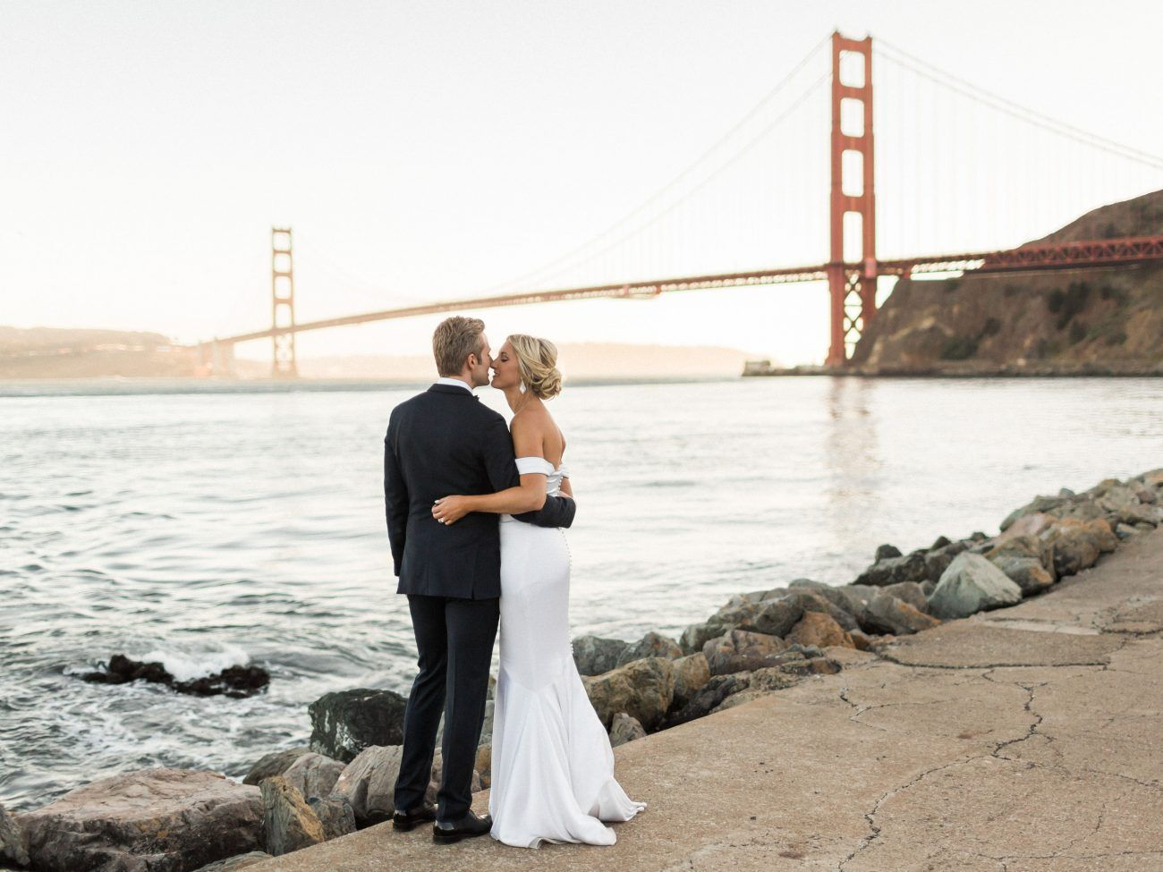 Glamorous Waterfront San Francisco Wedding Simply Styled With Succulents and Eucalyptus