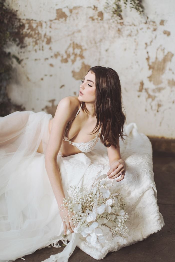 Timeless and Elegant Bridal Boudoir Session Highlights Feminine Beauty With Delicate Lace Ensembles