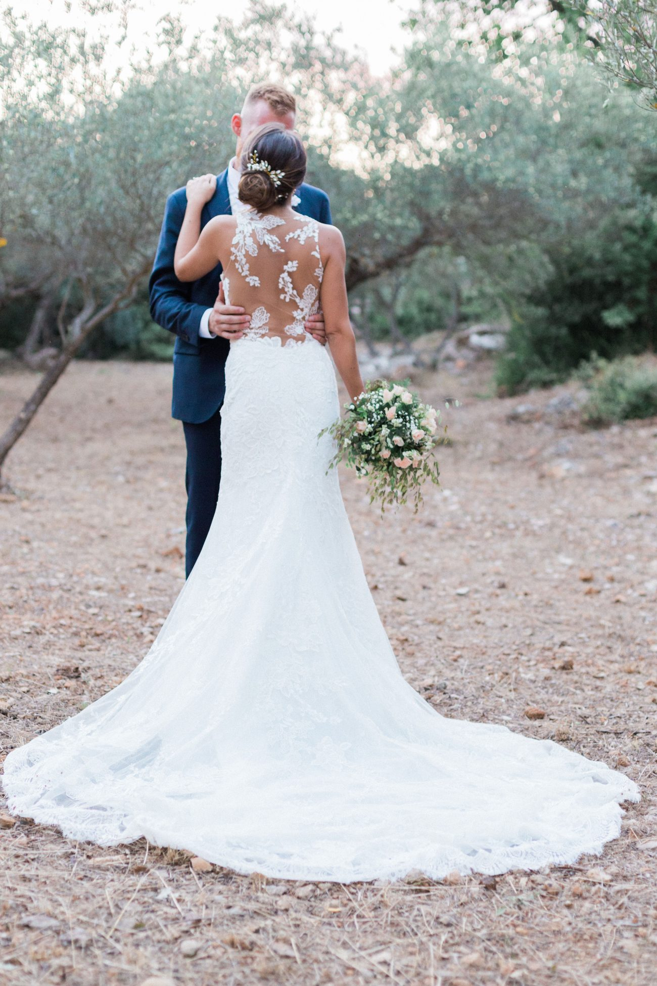 A Romantic Love Story Celebrated In Provence Ceremony Made Complete With Rustic Elements and Blue Accents
