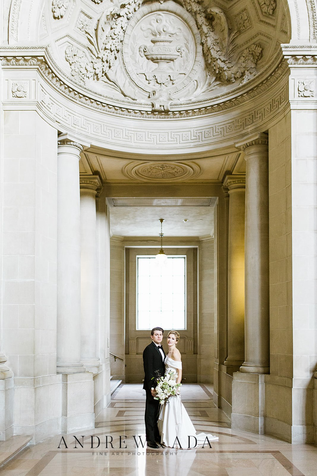 Romantic Elopement in Historic, Extravagant City Hall of San Fransisco