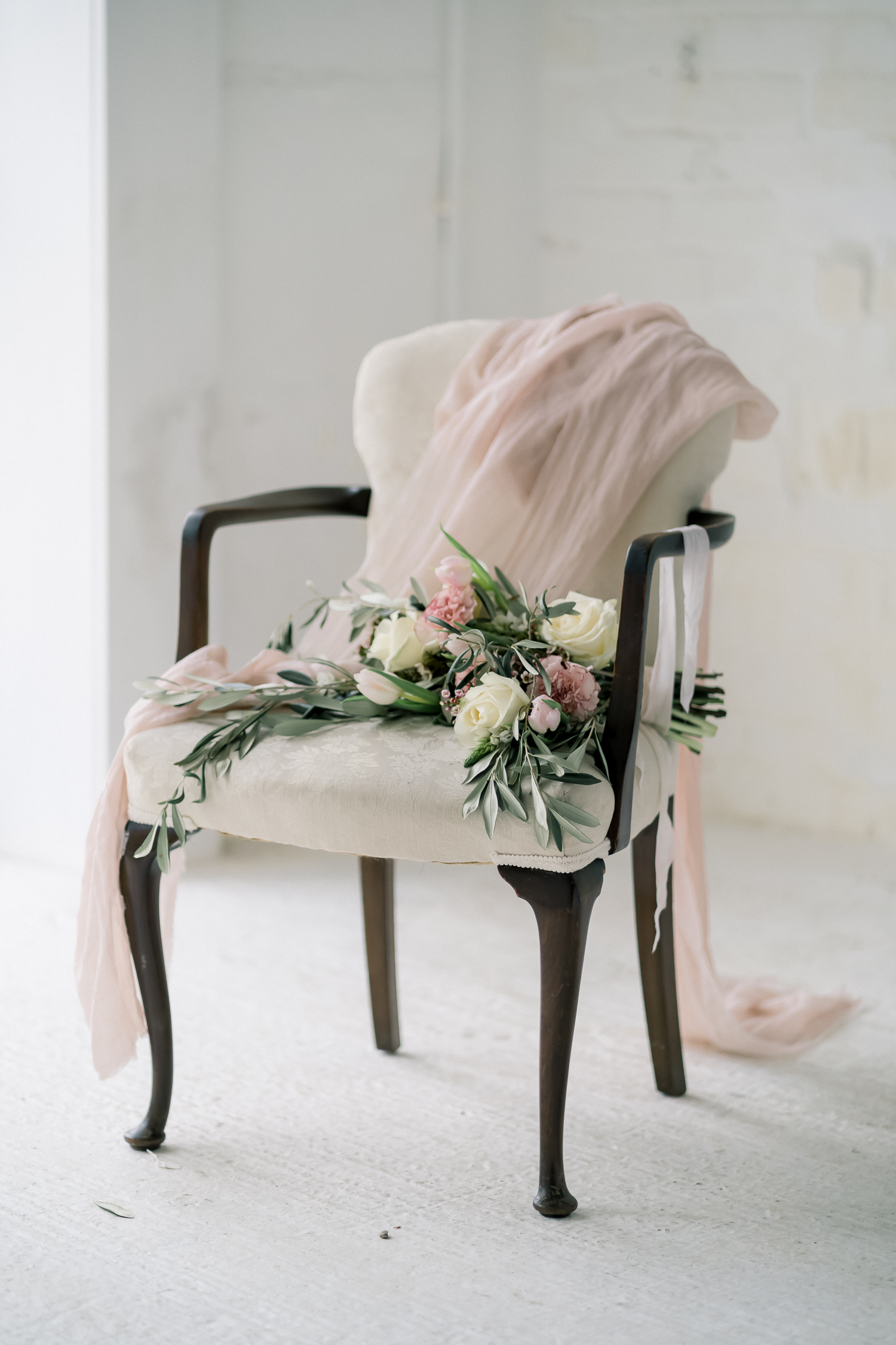 Whimsical Winter Bridal Inspiration Featuring a Blush Palette and Equally Soft Textiles for a Feminine Aesthetic