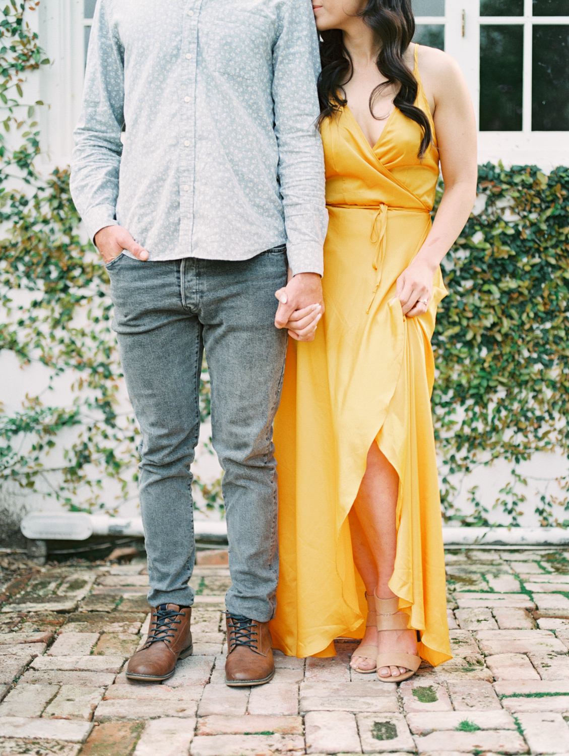 Idyllic Engagement Inspiration on Stunning California Estate With Modern Pops of Yellow
