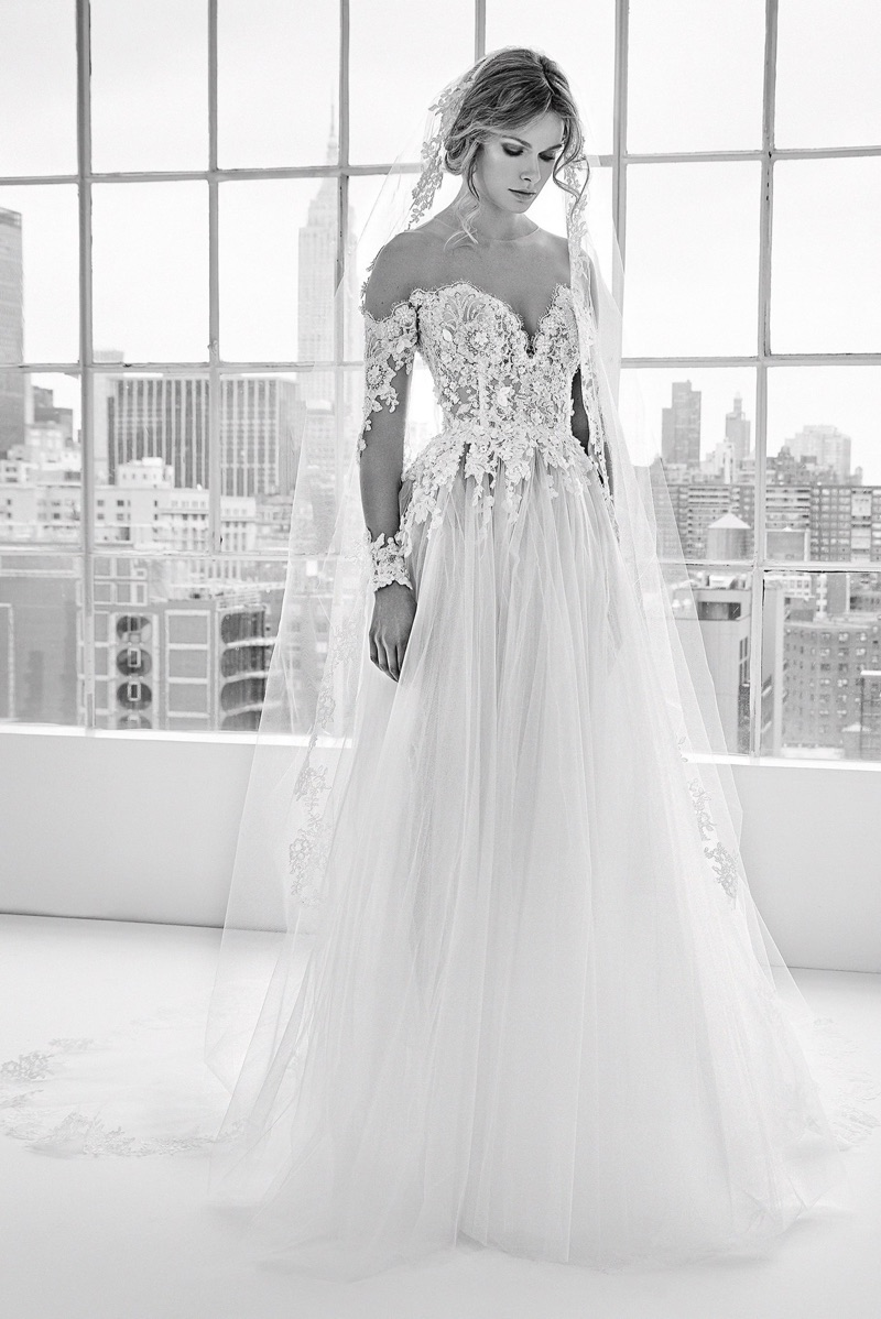 Off-The-Shoulder Wedding Dress With Long Sleeves by Zuhair Murad