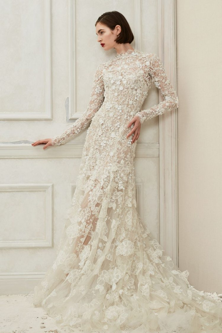Long Sleeve Bridal Gown by Oscar De La Renta