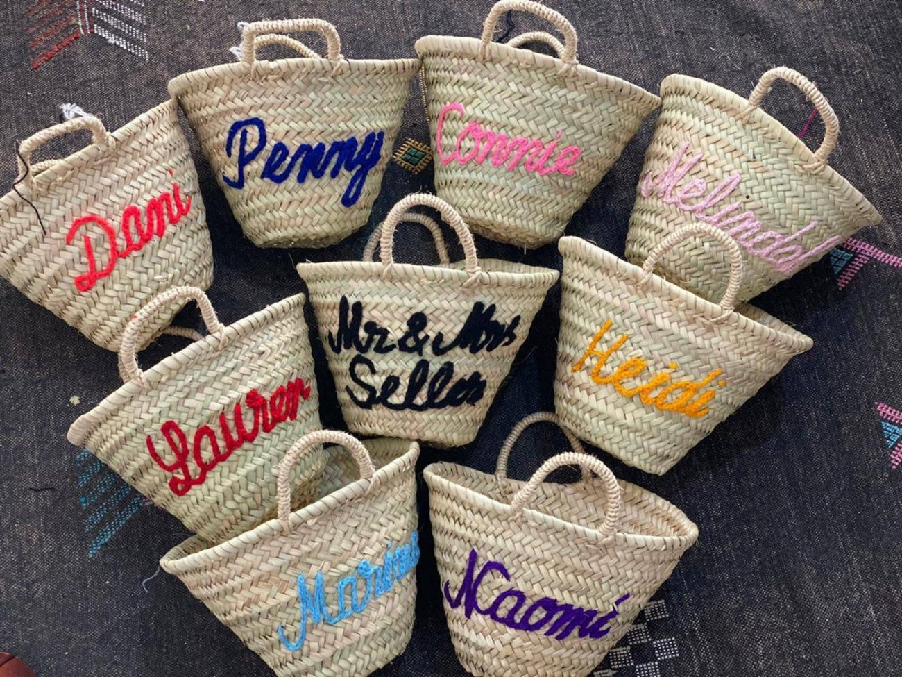Personalized Straw Bags