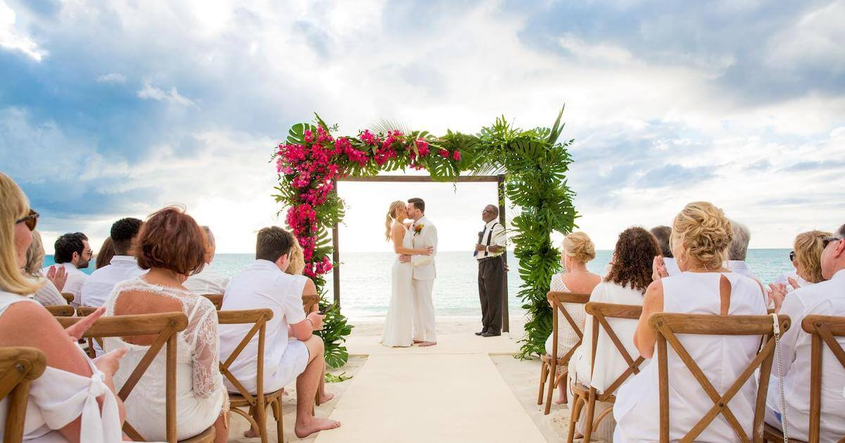 Wedding on Grace Bay in Turks & Caicos