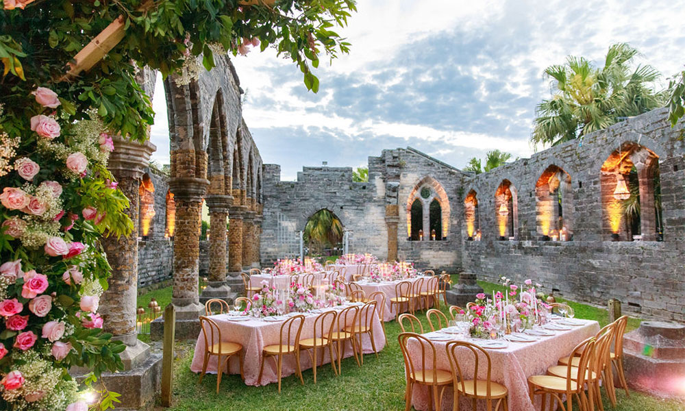 Wedding reception in Bermuda