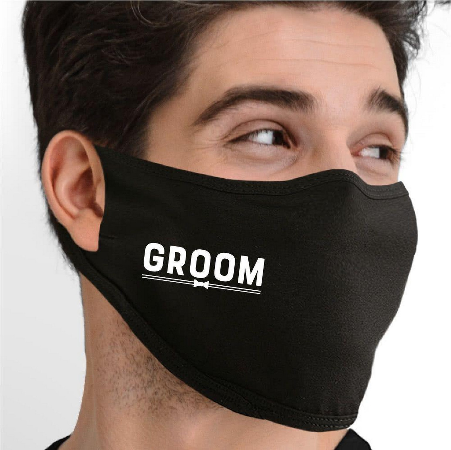 Cotton mask for a groom