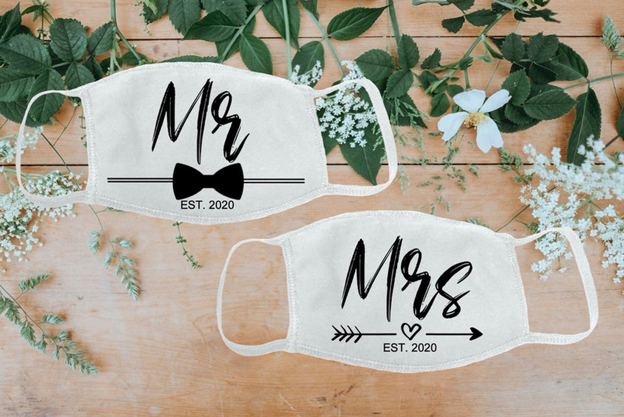 Mr and Mrs masks