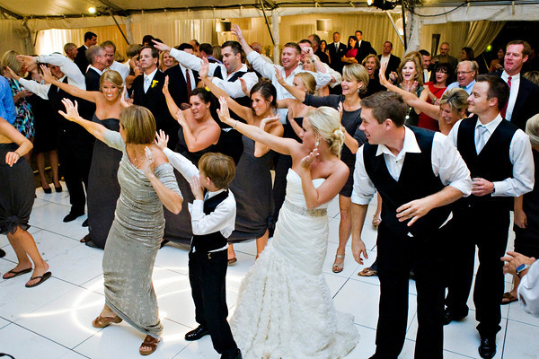 Group dance at a wedding
