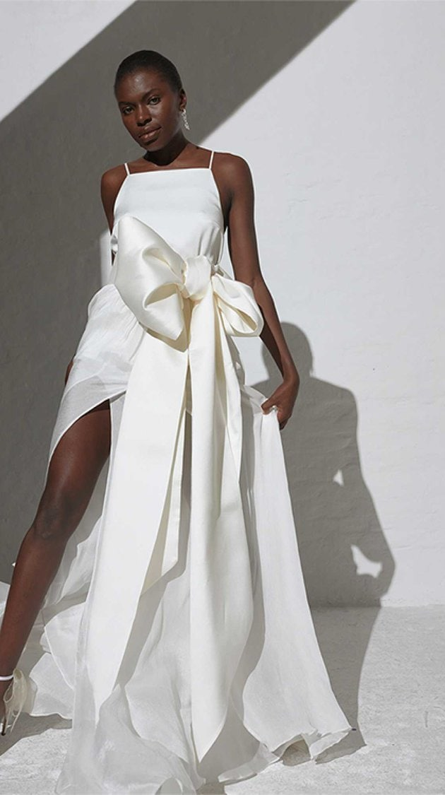Kaviar Gauche dress with giant front bow