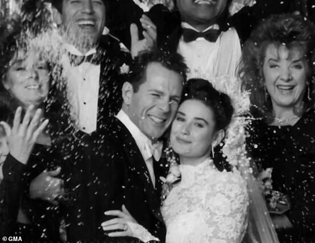 Demi Moore on her wedding day