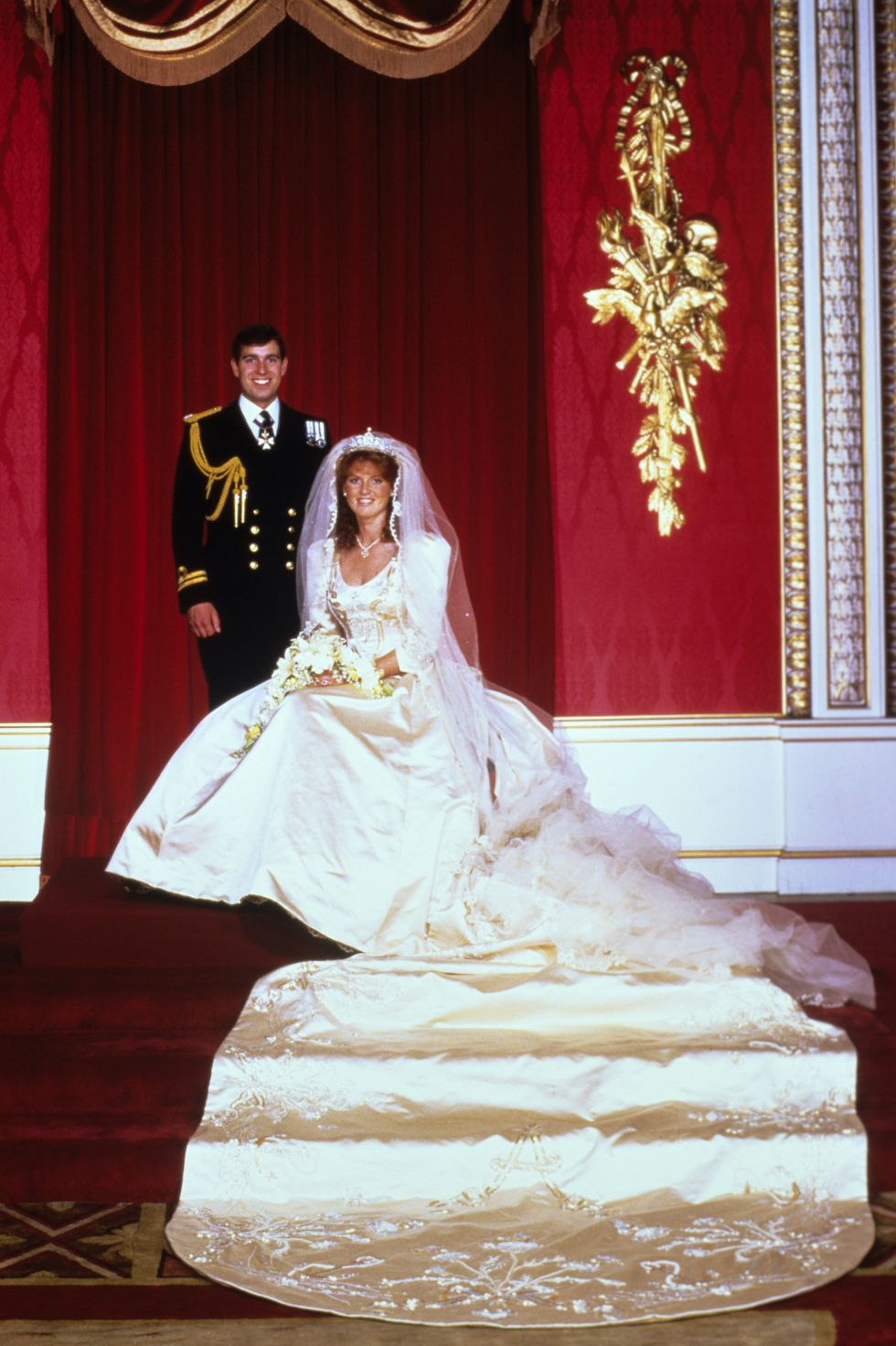 Sarah Ferguson and Prince Andrew wedding picture