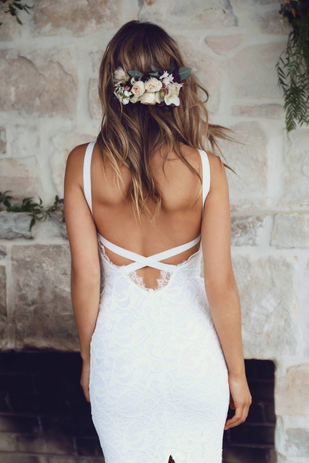 Nia 2.0 dress (back view) by Grace Loves Lace