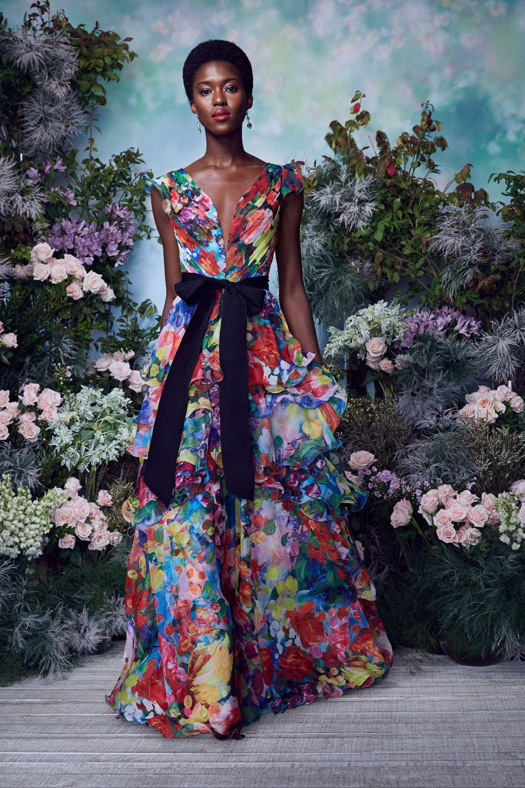Spring floral gown by Marchesa
